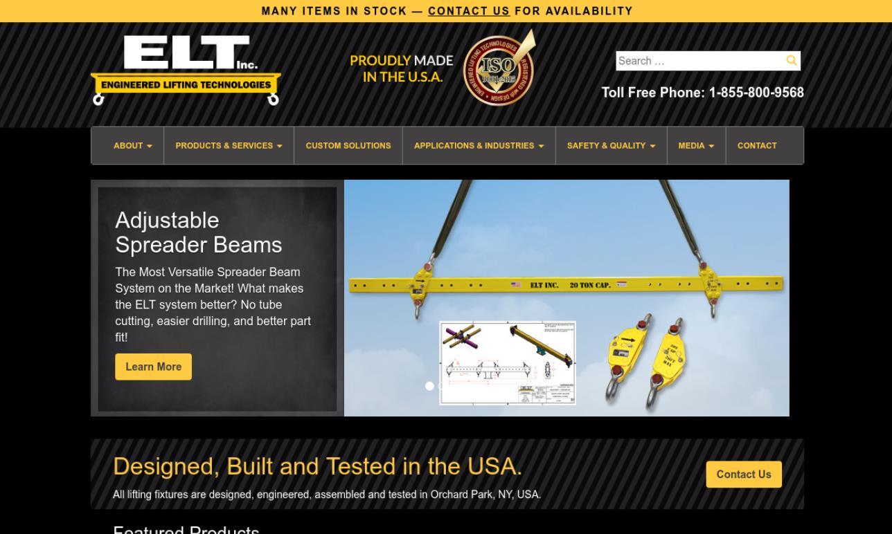 Engineered Lifting Technologies, Inc.
