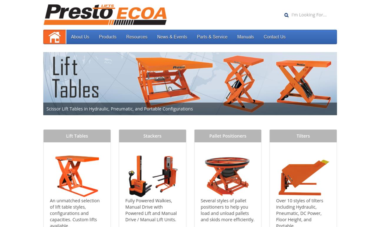Presto Lifts Inc.