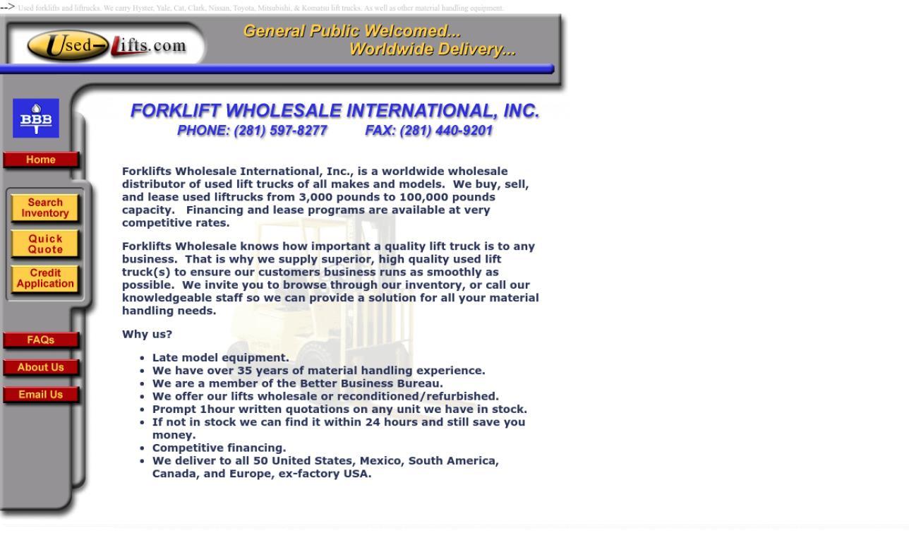 Forklift Wholesale International, Inc.