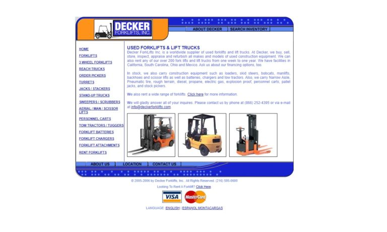 Decker Forklifts, Inc.